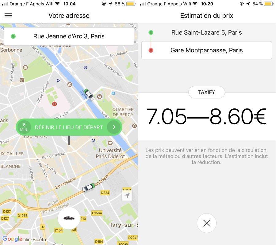 Taxify iPhone VTC - Code promo Bolt (Taxify) : 10€ offerts sur votre 1ère course à Paris !