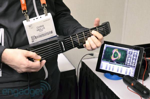 JamStik guitare - CES 2014 : JamStik, guitare électrique sans fil pour iOS et Mac
