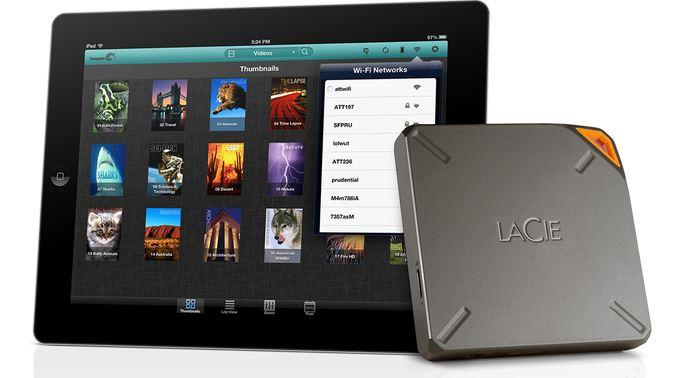 LaCie Fuel - CES 2014 : LaCie Fuel, disque dur Wi-Fi 1 To pour iPhone & iPad
