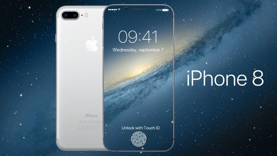 iPhone 8 concept 2017 edge to edge - Concept : un iPhone 8 edge-to-edge avec la recharge sans fil