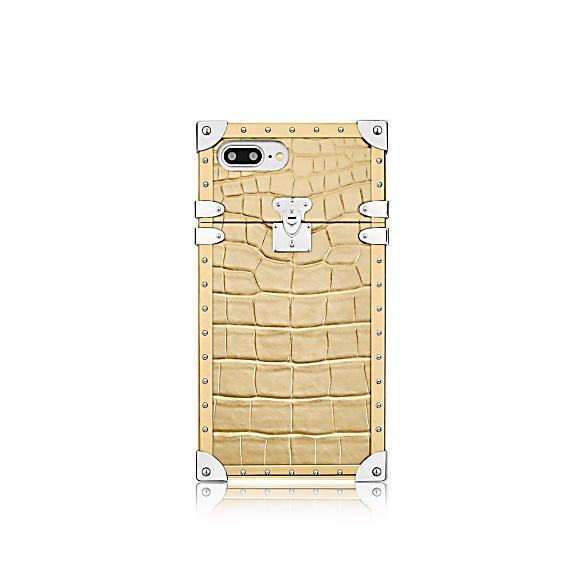louis vuitton eye trunk iphone 7 plus cuir crocodile dore - Eye-Trunk : la coque iPhone 7 Louis Vuitton qui atteint 3 800 ?