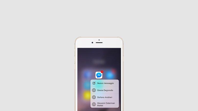 facebook messenger 3d touch - Facebook Messenger supporte enfin le 3D Touch des iPhone 6S