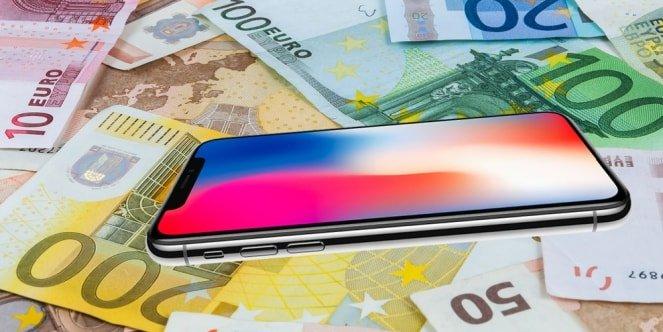 montage billets iphone - Prix élevé des iPhone : le numéro deux d