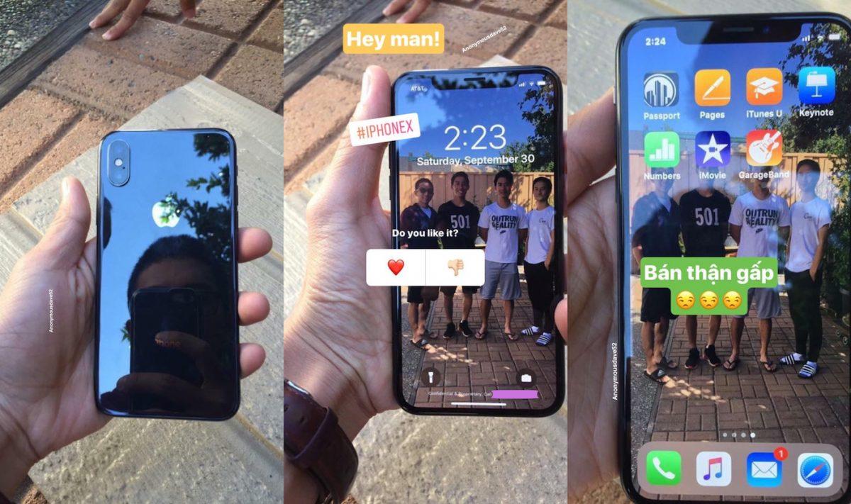 """iphone x prise en main fuite 1024x607 - Des iPhone X """"dans la nature"""