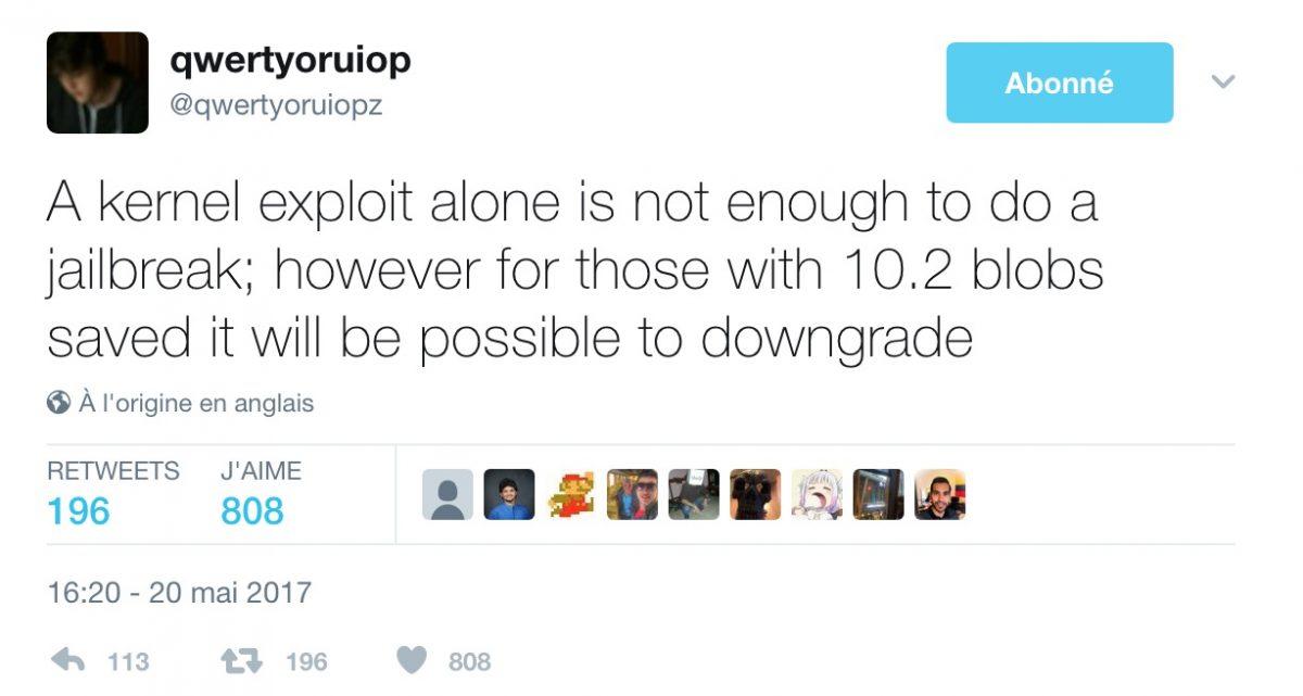 downgrade ios 10.3.1 vers ios 10.2 1024x547 - Jailbreak : une faille permet le downgrade d
