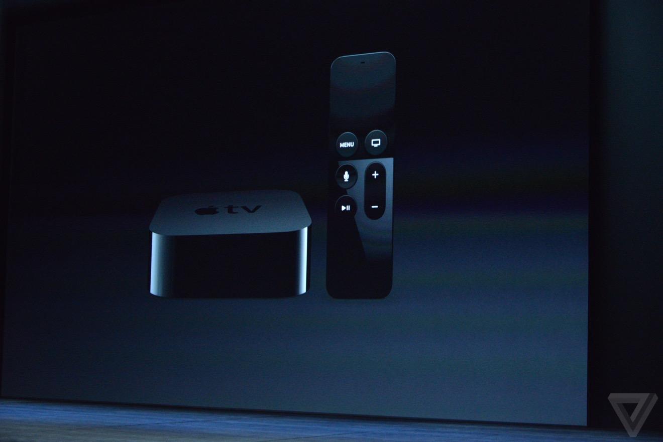 apple tv 4 2015 keynote 1024x683 - Keynote : Apple TV 4 sous tvOS, avec App Store, Siri, télécommande, ...