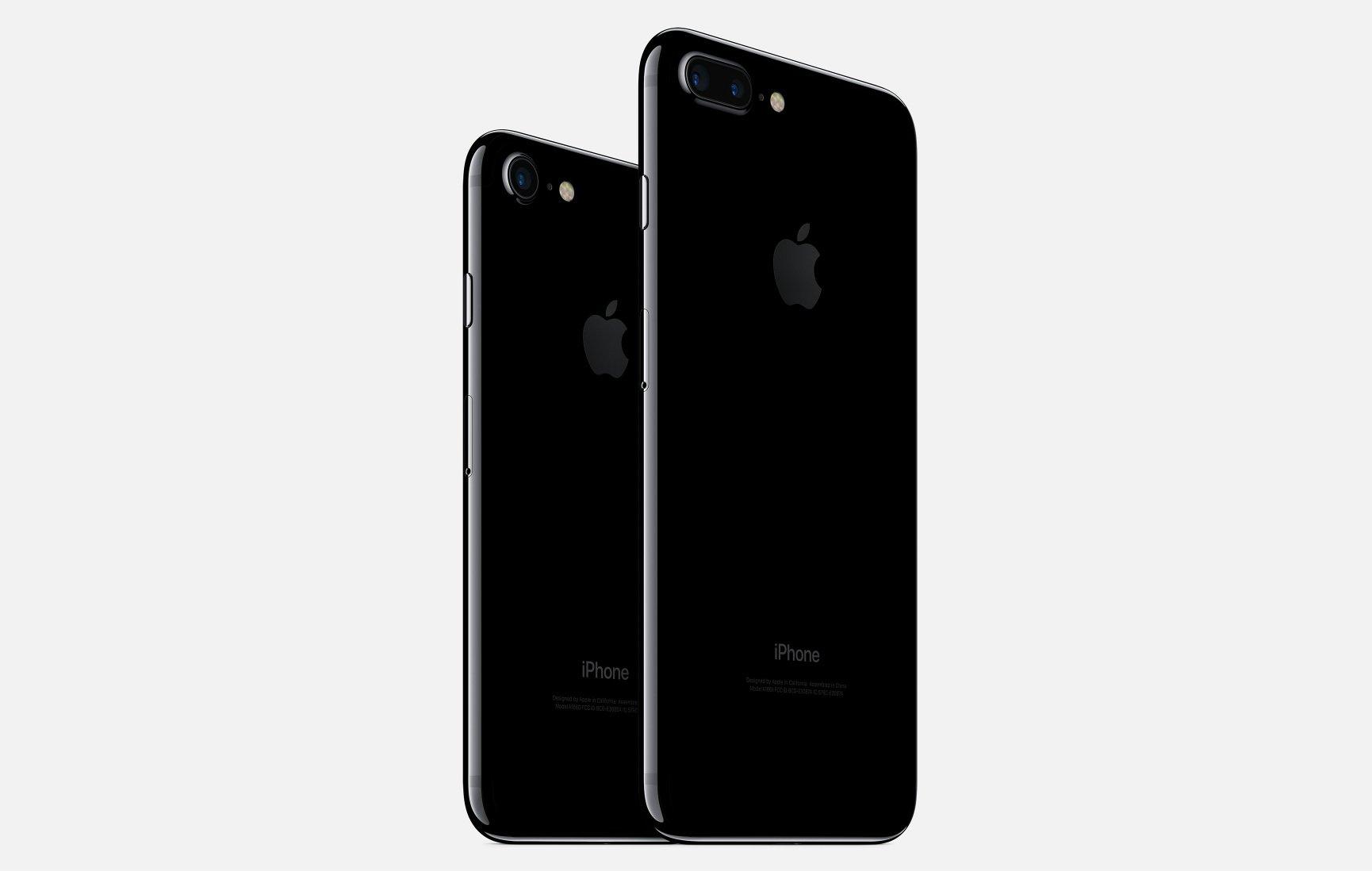 iphone 7 7 plus noir jet - Keynote : Apple dévoile les iPhone 7 et iPhone 7 Plus