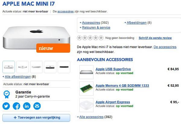 mac mini haswell be - Mac Mini : sortie d