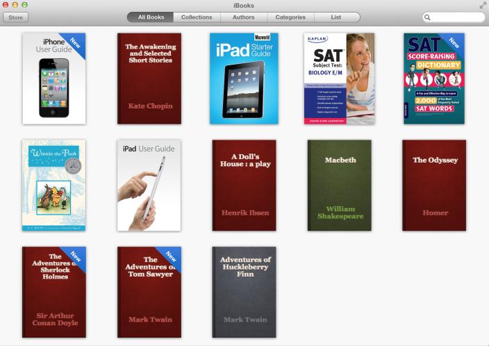 OS X Mavericks ibooks - Mac : OS X Mavericks Developer Preview 5 disponible