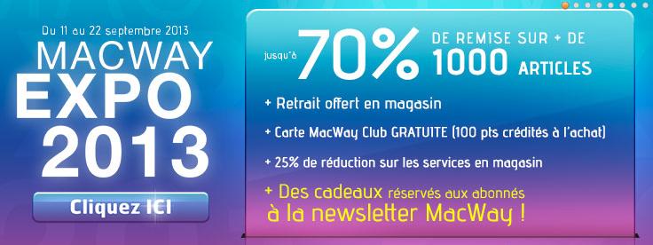 macway expo 2013 - MacWay Expo 2013 : bons plans et jeu concours