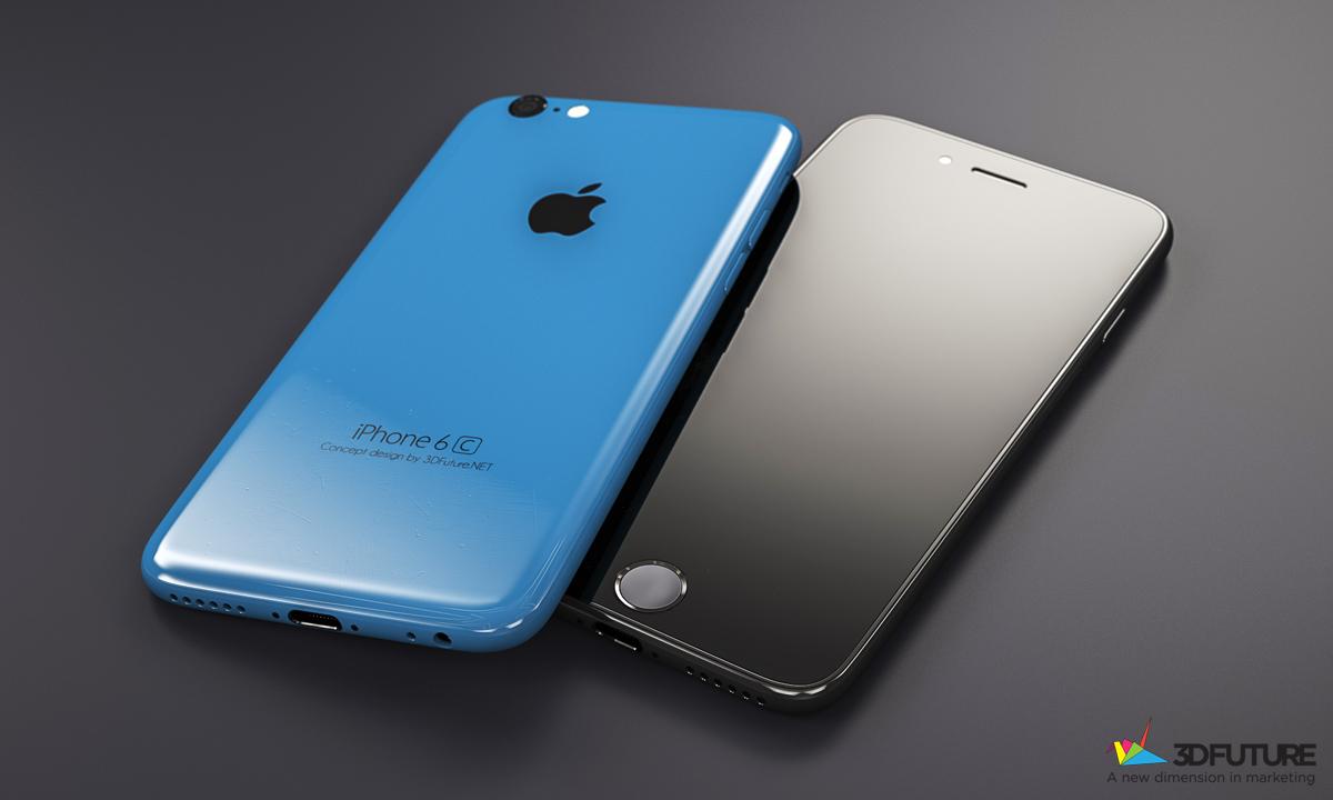 concept iphone 6c bleu noir 1024x614 - Nouvel iPhone de 4 pouces : puce A8, Bluetooth 4.1 & caméra FaceTime HD ?