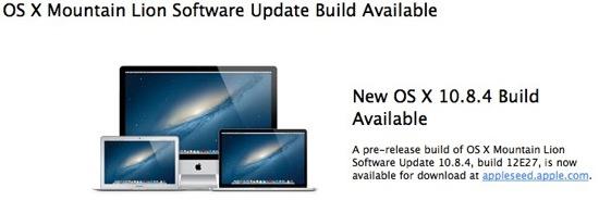 OS X 10.8.4 beta 1 - OS X Mountain Lion 10.8.4 bêta 1 disponible