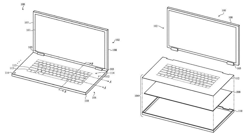brevetclavier macbook - Brevet : Apple songe à un clavier en verre sur le MacBook
