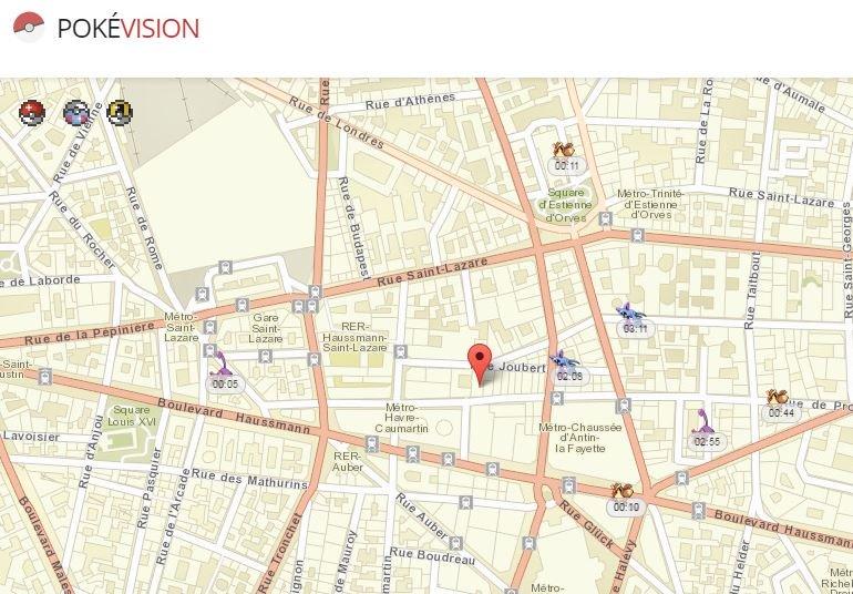 Pokevision Pokemon GO - Pokémon GO : PokéVision, tricher & localiser les Pokémons sur une carte