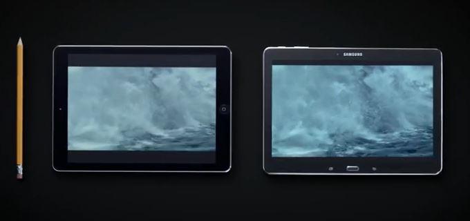 iPad Air vs Galaxy Tab Pro 10.1 - Samsung tire parti de la publicité de l