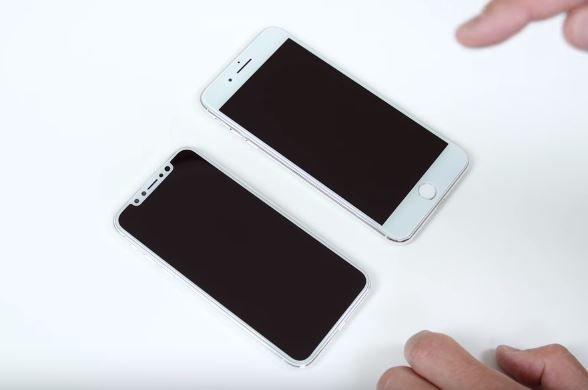 maquette iphone 7s plus vs iphone 8 - Les dimensions de l