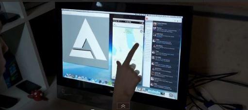 os x mountain tactile - Insolite : OS X Mountain Lion sur un écran tactile