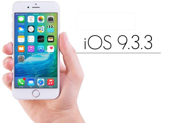ios 9.3.3 - iOS 9.3.3 est disponible sur iPhone, iPad & iPod Touch