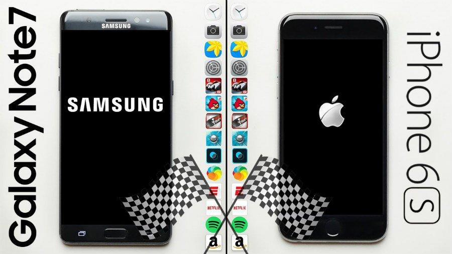 iphone 6s vs galaxy note 7 - iPhone 6S vs Galaxy Note 7 : quel est le plus rapide ?