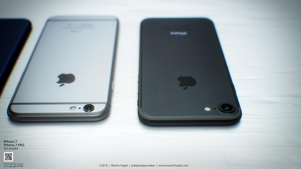 Concept iPhone 7 Bleu Noir Hajek 3 1024x576 - iPhone 7 : Apple chercherait à faire baisser le coût des composants