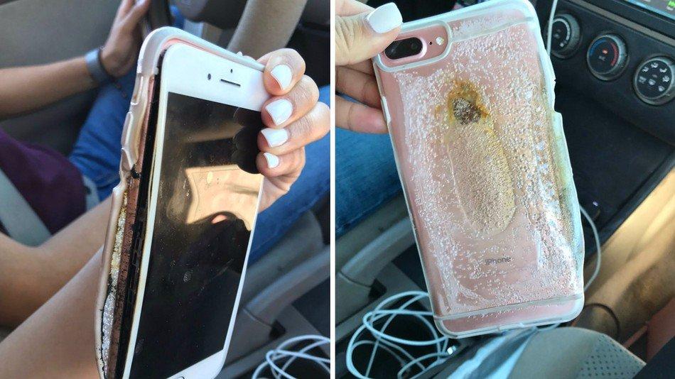 iphone 7 Plus rose explose - iPhone 7 Plus : nouveau cas d'explosion, une vidéo partagée sur Twitter