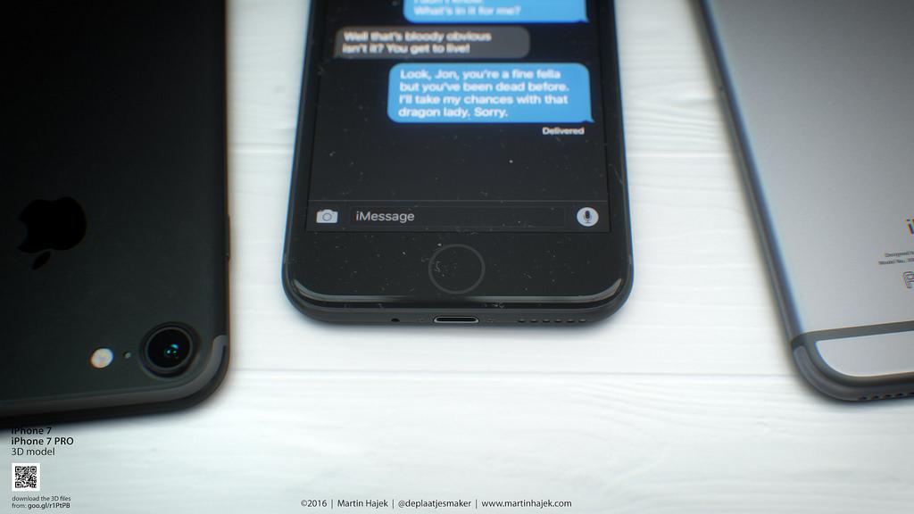 Concept iPhone 7 Bleu Noir Hajek 5 1024x576 - iPhone 7 : une batterie de 1960 mAh contre 1715 mAh sur l
