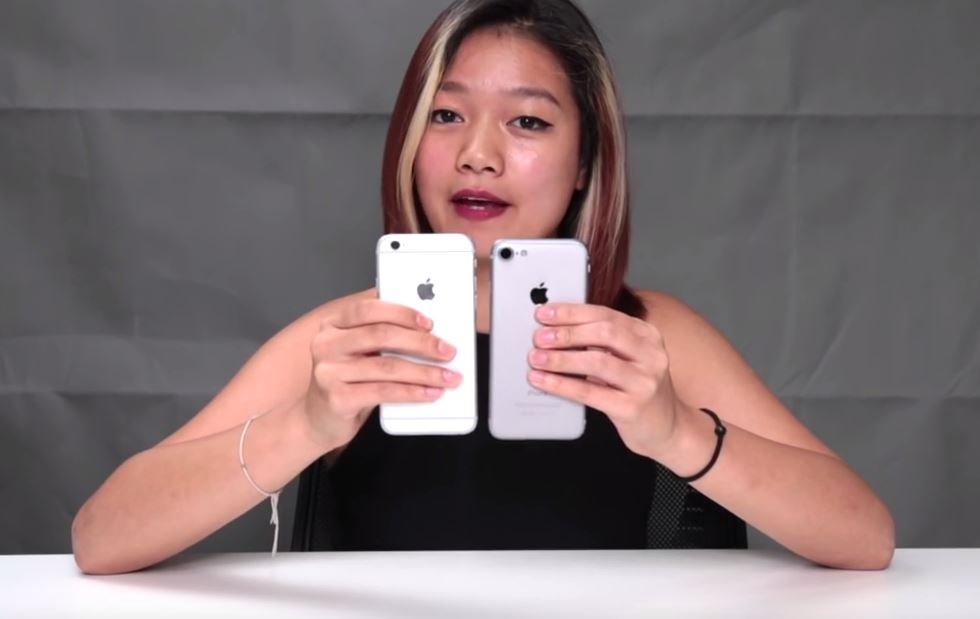 iphone 6s vs iphone 7 maquette - iPhone 7 : une seconde vidéo de comparaison avec l?iPhone 6s