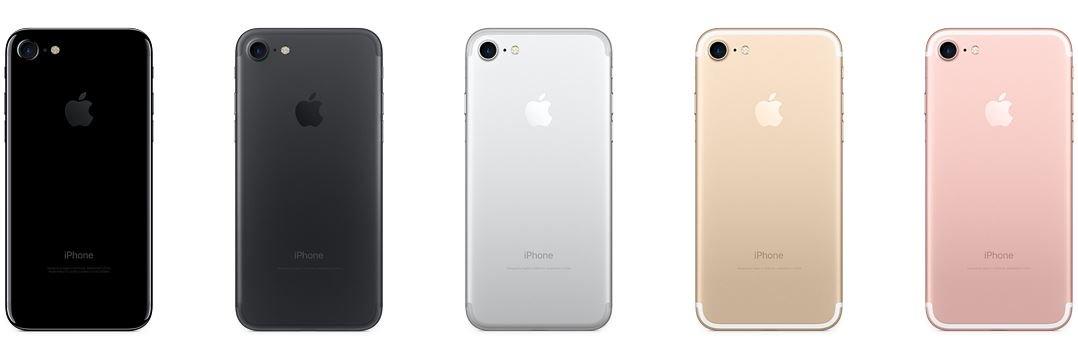 iphone 7 or or rose noir noir de jais argent 1024x339 - iPhone 7 : des ventes inférieures à celles de l'iPhone 6S ?