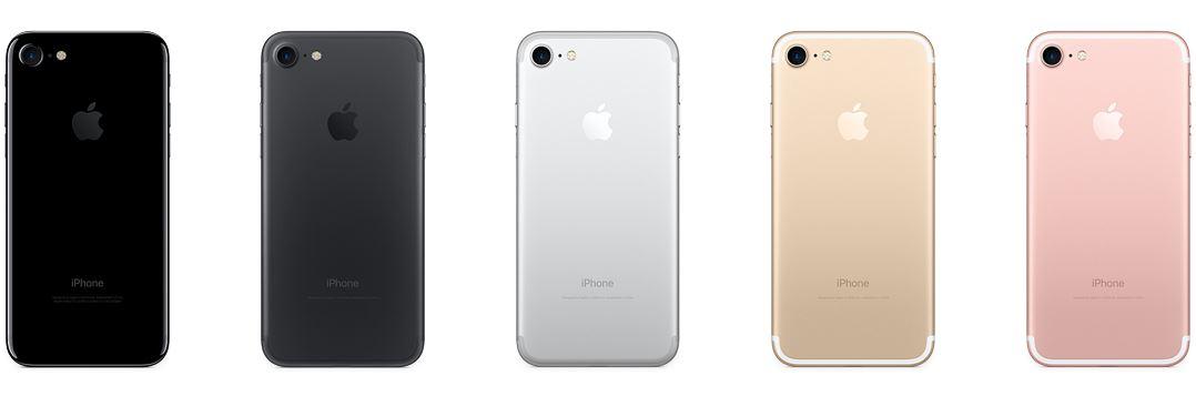 iphone 7 or or rose noir noir de jais argent 1024x339 - iPhone 7 : comparatif de prix selon les pays