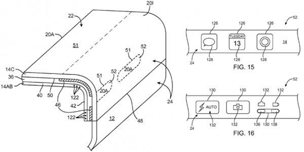 apple brevet ecran incurve interactif - iPhone 7S/8 : Apple dépose un brevet d