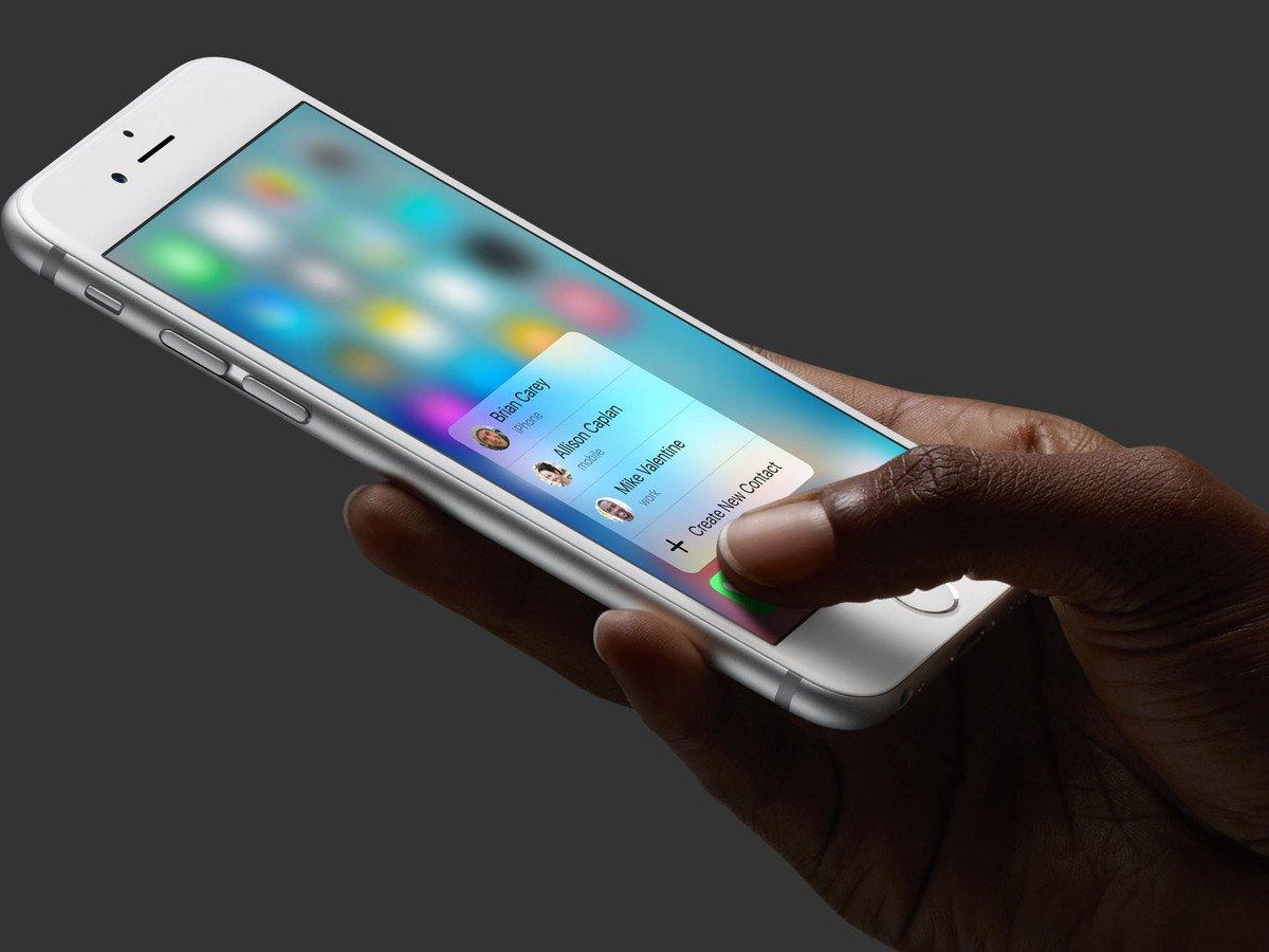 3d touch iphone 6s 1024x768 - Le 3D Touch pourrait être absent de tous les iPhone de 2019