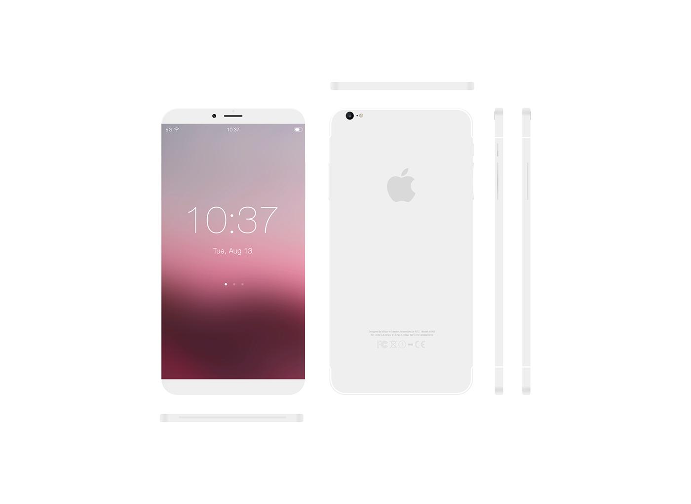 iPhone 8 Concept VIKTORH 1024x747 - iPhone 8 : un concept sans bord et avec Scroll Bar sous iOS 11