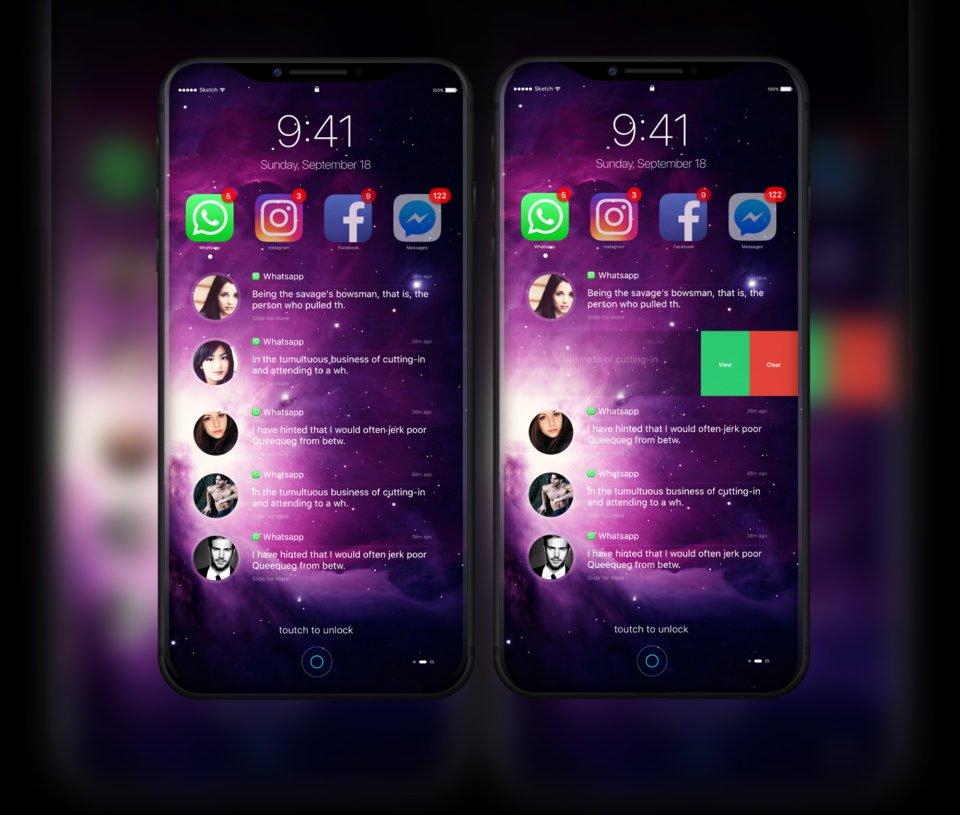 iphone 8 2017 design concept - iPhone 8 : un concept sous iOS 11 en attendant la WWDC 2017
