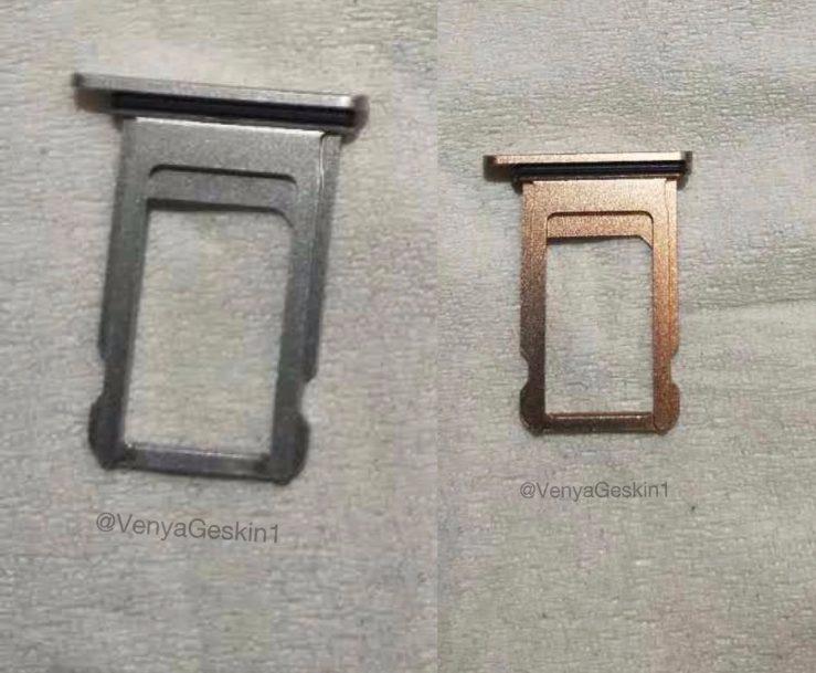 Fuite Tiroir Carte SIM iPhone 8 - iPhone 8 : des photos de tiroirs pour la carte SIM (argent et or/cuivre)