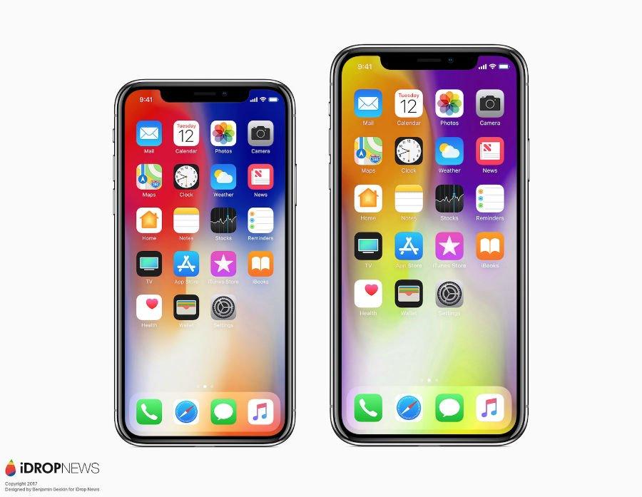 iPhone X vs iPhone X Plus concept 2 - iPhone X Plus (2018) : un premier concept avec un écran de 6,4 pouces