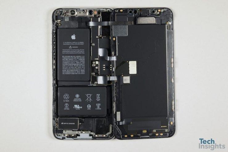 iPhone XS Max Interieur Composants Demontage 739x493 - iPhone XS Max : un coût de production estimé à 443 dollars