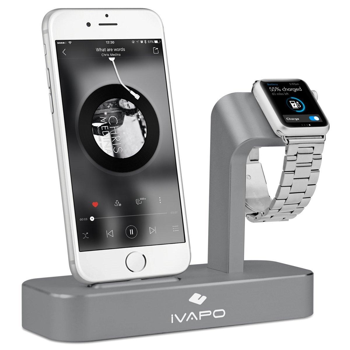 ivapo 1024x1024 - iVAPO : station de charge 2 en 1 pour iPhone & Apple Watch
