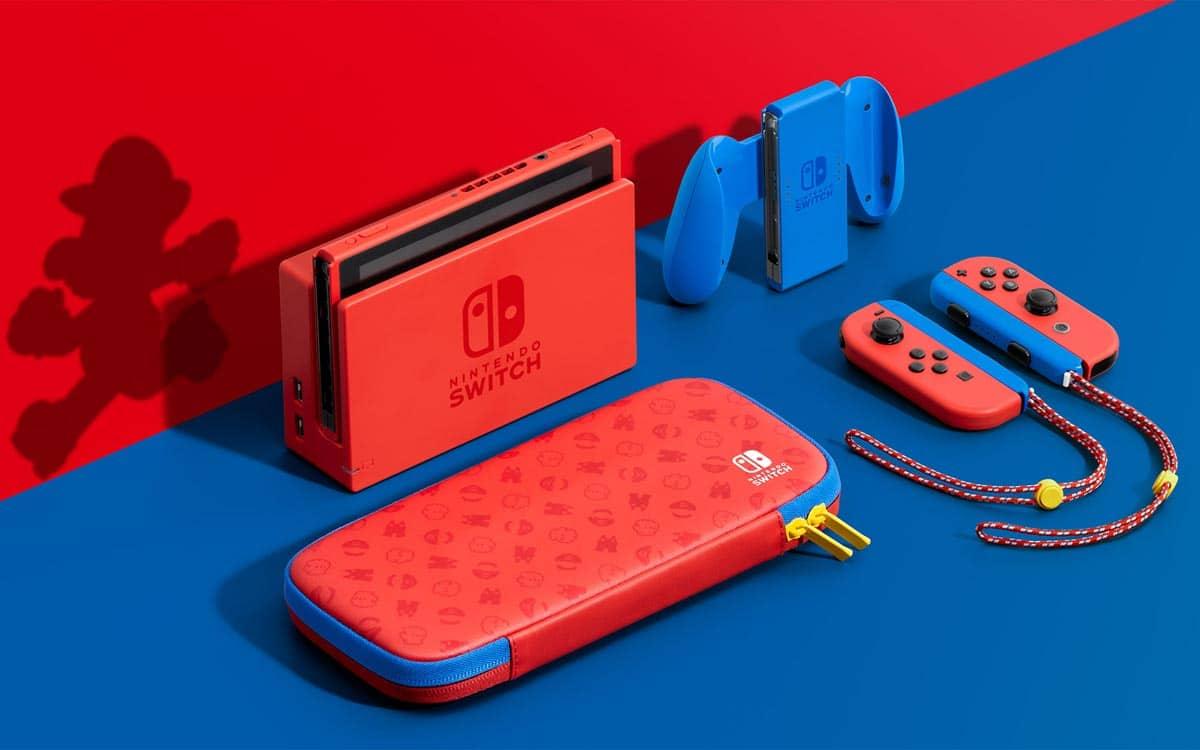 Nintendo Switch Mario rouge et bleu